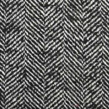 Herringbone Wool Blend Tweed Fabric in Black and White 150cm Wide